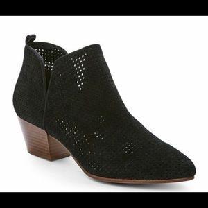 Sam Edelman black suede ankle booties size 8